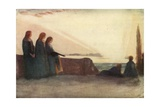 Now Fades the Glimmering Landscape on the Night, and All the Air a Solemn Stillness Holds Giclee Print by Robert Anning Bell