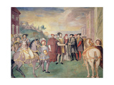 The Truce of Nice Between Francois I and the Emperor Charles V in 1538 Giclee Print