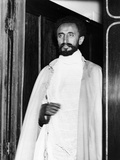 Emperor Haile Selassie I of Ethiopia Photographed at Euston Station Fotografisk tryk