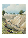 Entrance to the Tunnel at Watford Giclee Print by Thomas Talbot Bury