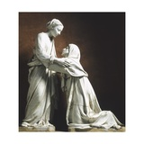 Italy, Pistoia, Church of San Giovanni Fuor Civitas, Visitation Giclee Print by Luca Della Robbia
