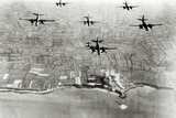 Six U.S. A-20 Bombers Have Bombed German Positions at the Pointe Du Hoc Coastal Battery Photographic Print