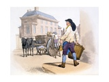 Rubbish Collectors, from the Costumes of Great Britain Giclee Print by William Henry Pyne