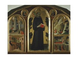 Altarpiece Entitled Blessed Agostino Novello and Stories of His Life, Ca 1330 Giclee Print by Simone Martini