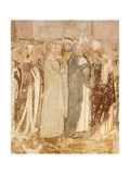 Departure from Rome, Detail from Stories of St Ursula Giclee Print by Tommaso Da Modena