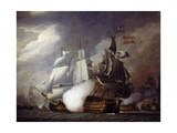 Naval Battle of Cape St Vincent Between the English and Spanish, February 14, 1797 Giclee Print by Robert Cleveley