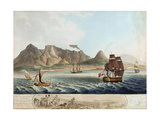 A View of the Cape of Good Hope...The Battle Previous to the Surrender...8th January 1806 Giclee Print by William Marshall Craig