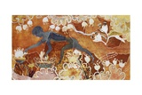 Reproduction of Fresco of Saffron Gatherer, Taken from Palace of Minos at Knossos, London Giclee Print by Sir Arthur Evans