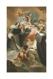 Our Lady of Rosary with Child, St Dominic and St Vincent Ferrer, Circa 1773 Giclee Print by Ubaldo Gandolfi