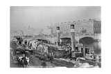 St. Patrick's Bridge and a Paddle Steamer at the Quay, Cork, Ireland, C.1890 Giclee Print by Robert French
