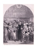 John Wycliffe Appearing in St Paul's Cathedral to Answer to the Charge of Heresy Ad 1376 Giclee Print by Sir John Gilbert