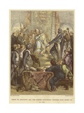 Simon De Montfort and the Barons Demanding Reforms from Henry III, Ad 1258 Giclee Print by Sir John Gilbert