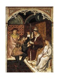 Alexander III Handing Sword to Doge of Venice, Detail of Fresco History of Pope Alexander III Giclee Print by Spinello Aretino