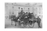 Passengers Prepare for their Journey on Bianconi's Galway-Clifden Mail Car, Ireland, 1880S Giclee Print by Robert French