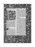 Front Page of Chapter I, Taken from the Well at World's End by William Morris, 1896 Giclee Print by William Morris
