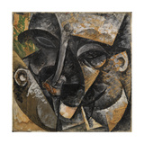 Dynamism of a Man's Head or Composition of a Woman's Head Giclee Print by Umberto Boccioni