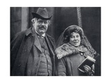 G. K. Chesterton with His Wife Frances Blogg Giclee Print