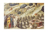 Carmelites Praying, Detail from Dais of Carmine Altarpiece Giclee Print by Pietro Lorenzetti
