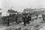 Landing Boats Pouring Soldiers and their Equipment onto the Beach at Massacre Bay Photographic Print