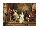 Sancho Panza Entertains Duke and Duchess Giclee Print by William Powell Frith