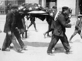 An American Victim of the Sinking of the Lusitania Being Carried Away Photographic Print