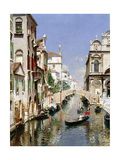 A Venetian Canal with the Scuola Grande Di San Marco and Campo San Giovanni E Paolo, Venice Giclee Print by Rubens Santoro