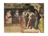 Coronation of Pope, Scene from Stories of Alexander III, 1407-1408 Giclee Print by Spinello Aretino