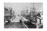 The Quays, Drogheda, with Waterside Idlers Content to Watch the Photographer at Work, C.1885 Giclee Print by Robert French