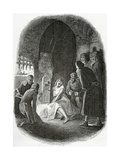 The Interrogation of Esmeralda - Illustration from Notre Dame De Paris, 19th Century Giclee Print by Tony Johannot