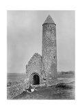 One of the Round Towers and a Section of the Ruins at Clonmacnoise, County Offaly, Ireland, C.1890 Giclee Print by Robert French