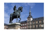 Spain, Madrid, Plaza Mayor, Equestrian Statue of Philip Iii, 1616 Giclee Print by Pietro Tacca