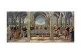 Marriage at Cana, Detail of the Predella of the St Augustine Altarpiece, 1502-1523 Giclee Print by Pietro Perugino