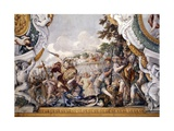 The Tragic Death of Turnus, Detail from Stories of Aeneas Giclee Print by Pietro da Cortona
