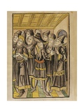 The Moldavian Delegation, from the 'Chronicle of the Council of Constance', Published 1483 Giclee Print by Ulrich Von Richental