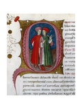Initial Letter Q Depicting Tiberius and Gaius Sempronius Gracchus Giclee Print by Pietro Candido Decembrio