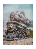 The 'Merchants Limited' All-Pullman Luxury Train of the New Haven Railroad at Speed South of Boston Giclee Print