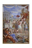 The Copper Age or Rather Soldiers Receiving Award for Capturing Prisoners Giclee Print by Pietro da Cortona