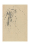 Head and Bust of a Girl in Profile to Right, Head of a Man, Full Front, Behind Giclee Print by Walter Richard Sickert