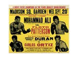 Poster Advertising the Second Fight Between Muhammad Ali and Floyd Patterson Giclee Print