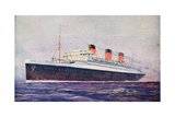 Promotional Postcard Depicting the 'Ile De France' Liner for the Compagnie Generale Transatlantique Giclee Print