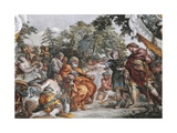 Aeneas with King Evander and Pallas, Detail from Stories of Aeneas Giclee Print by Pietro da Cortona