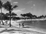 The Bathing Lagoon at Matheson Hammock Park Is a Favorite Spot for Family Outings Photographic Print