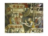 Naval Battle at Punta Di San Salvatore, Scene from Stories of Alexander III, 1407-1408 Giclee Print by Spinello Aretino