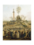 Detail from the Festival of the Supreme Being at the Champ De Mars, June 8, 1794 Giclee Print by Pierre Antoine Demachy