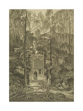 View of the Chapel in the Garden at Strawberry Hill, 1784 Giclée-tryk af William Pars