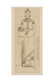 Princesse Italo-Romaine. Fin Du Viiie Siecle. Mosaique De La Basilique Ste Cecile Giclee-trykk av Raphael Jacquemin