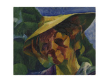 Head of Woman or Portrait of Mrs. Busoni Giclee Print by Umberto Boccioni