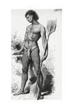 Tattooed Native from Easter Island Giclee Print