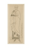 Prince Italo-Romaine, Fin Du VIIIe Siecle, Mosaique De La Basilique Ste Cecile Giclee-trykk av Raphael Jacquemin