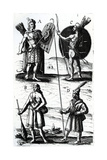 Illustrations of Algonquin Dress Giclee Print by Samuel de Champlain